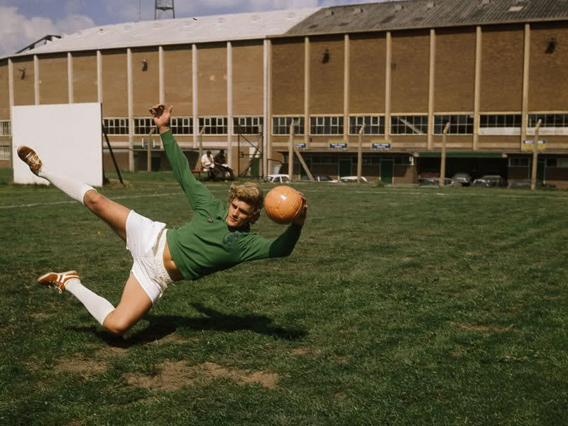 Chelsea and Leeds goalkeeper, Gary Sprake.